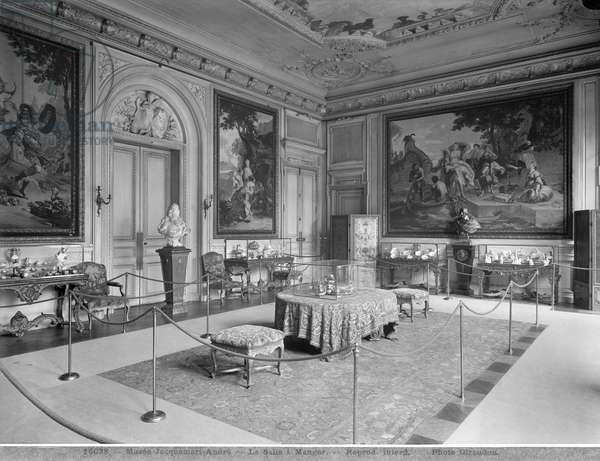Jacquemart-Andre Museum, Dining room, c.1910-20 (b/w photo)