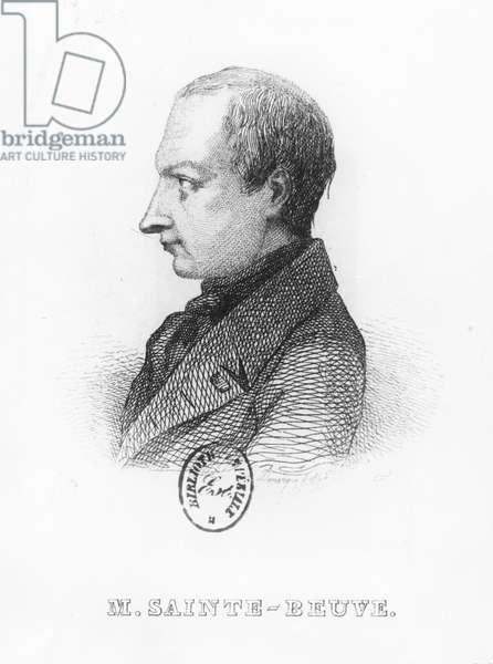 Portrait of Charles Augustin Saint-Beuve (engraving)