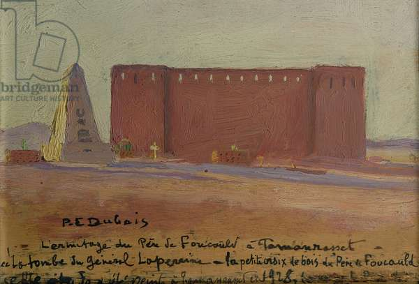 The Hermitage of Father Charles Eugene de Foucauld (1858-1916) at Tamanrasset, 1928 (oil on canvas)