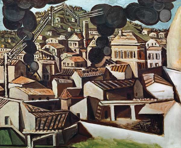 Smoke at Vallauris, 1951 (oil on canvas)