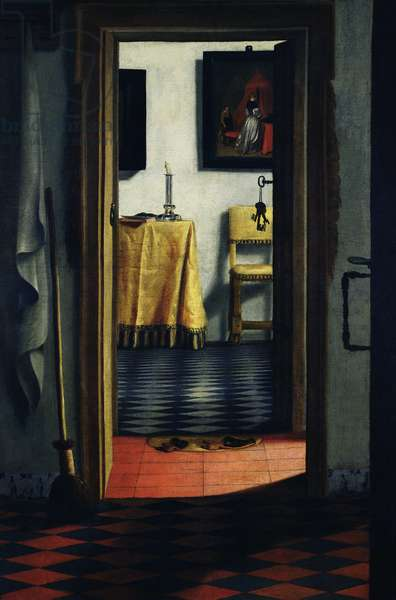 The Slippers, late 17th century (oil on canvas)