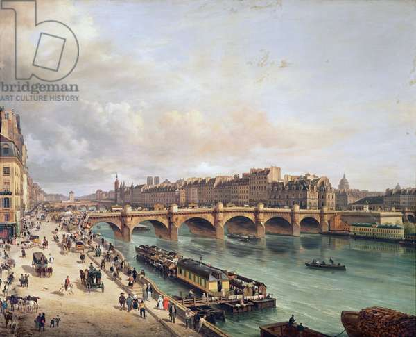 View of Pont Neuf, 1832 (oil on canvas)