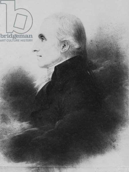 Portrait of Antonio Canova (black pencil with estompe & black lead) (b/w photo)