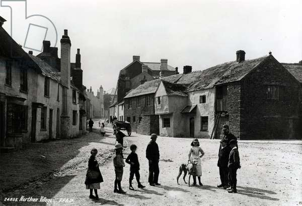 Northan Village in Wales, a photograph which was then used as a postcard by the Davidson Brothers, 1905 (b/w photograph)