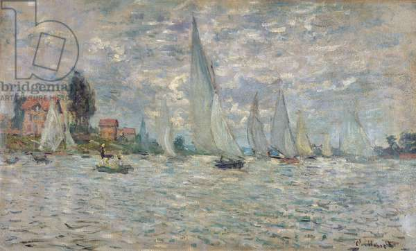 The Boats, or Regatta at Argenteuil, c.1874 (oil on canvas)