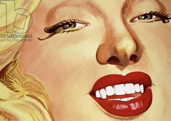 Diana Dors (1931-84) 1987 (acrylic on canvas)