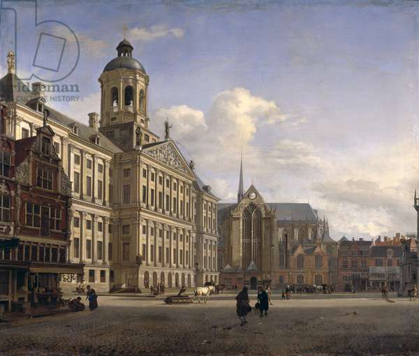 The New Town Hall, Amsterdam, 1668 (oil on canvas)