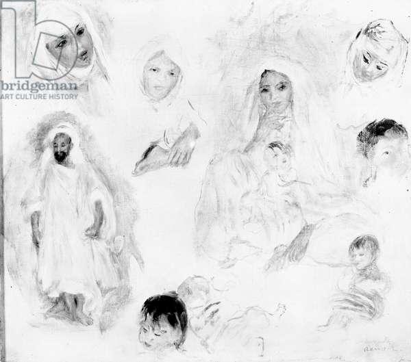 Arabs, 1881-82 (oil on canvas) (b/w photo)