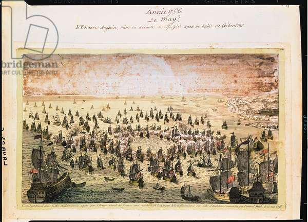 Siege of Mahon, 20th May 1756 (coloured engraving)