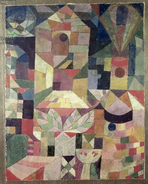 Castle Garden, 1919 (no 188) (w/c on primed paper on cardboard)