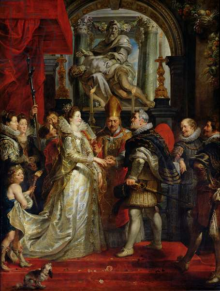 The Proxy Marriage of Marie de Medici (1573-1642) and Henri IV (1573-1642) 5th October 1600, 1621-25 (oil on canvas)