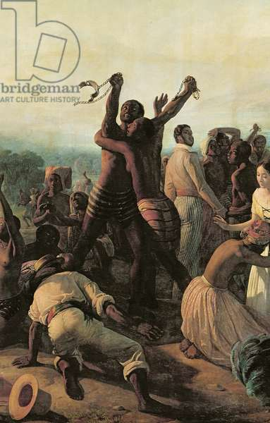 Proclamation of the Abolition of Slavery in the French Colonies, 23rd April 1848, 1849 (oil on canvas) (detail of 156205)