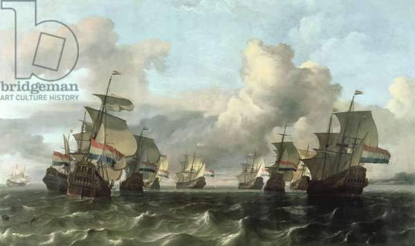 The Dutch Fleet of the India Company, 1675 (oil on canvas)