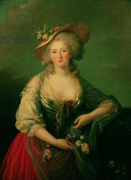 Elisabeth of France (1764-94) called Madame Elizabeth, c.1782 (oil on canvas)