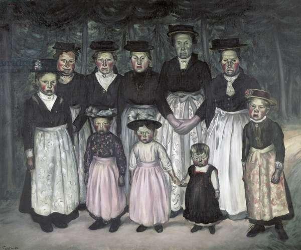 The Sunday Walk, 1921 (oil on canvas)