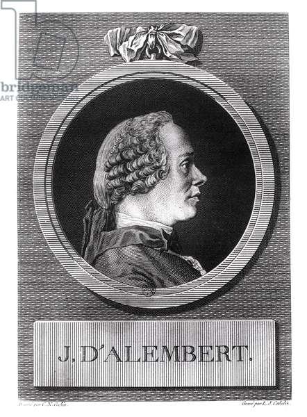 Jean le Rond d'Alembert (1717-1783) (engraving) (b/w photo)