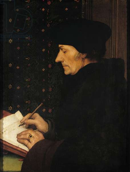 Portrait of Desiderius Erasmus (oil on panel)
