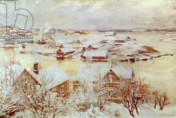 A December Day (in Finland) c.1893 (oil on canvas)