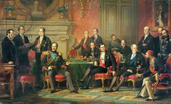 The Congress of Paris, 25 February to 30 March, 1856 (oil on canvas)