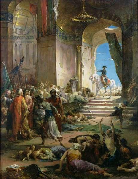 Napoleon Bonaparte (1769-1821) in the Grand Mosque at Cairo, c. 1890 (oil on canvas)