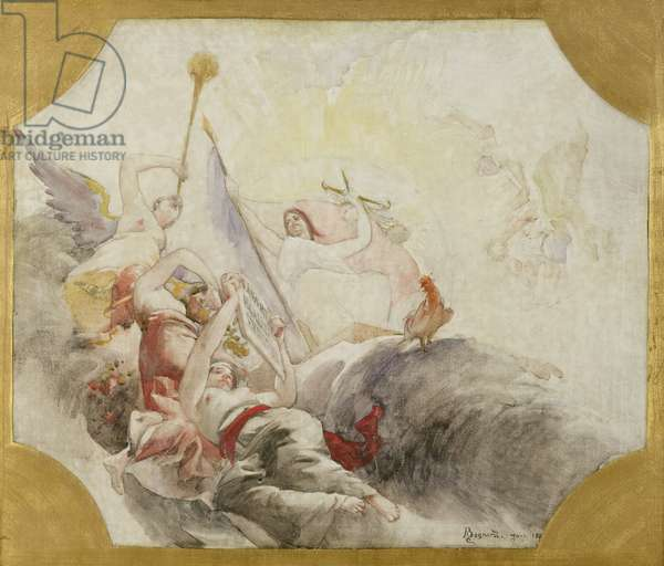 Triumph of the Republic, study for the decoration of the Town Hall in the 19th Arrondissement, 1880 (oil on canvas)