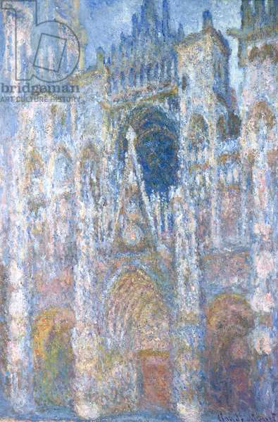Rouen Cathedral, Blue Harmony, Morning Sunlight, 1894 (oil on canvas)