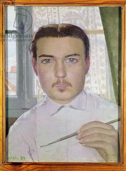Self Portrait Aged 18, April 1889 (oil on canvas)