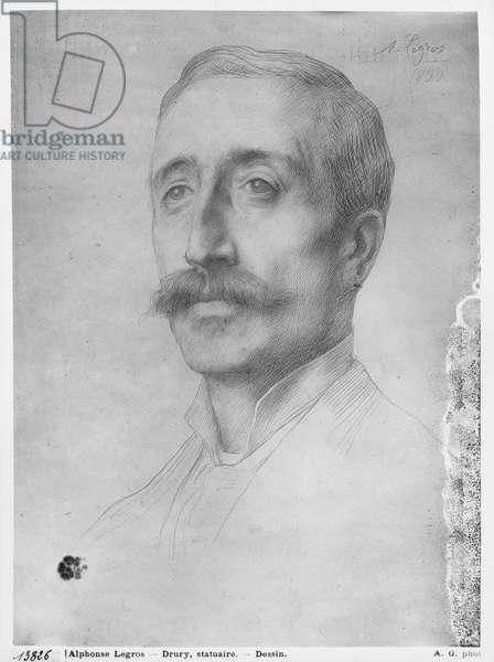 Alfred Drury, 1899 (black lead on paper)