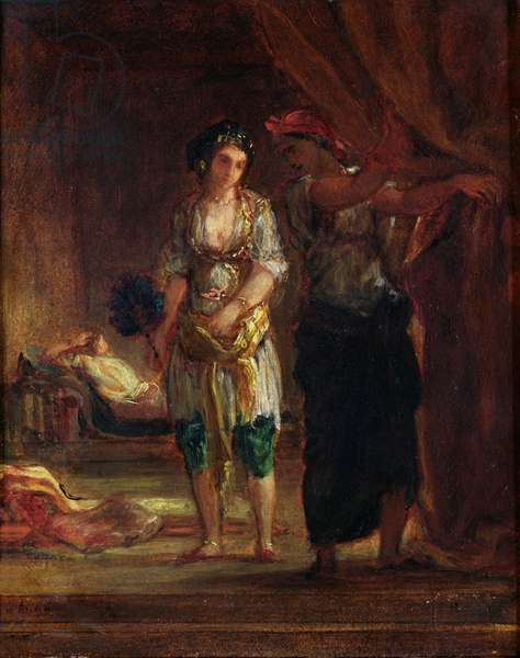 Interior of a Harem in Oran, c.1847 (oil on canvas)