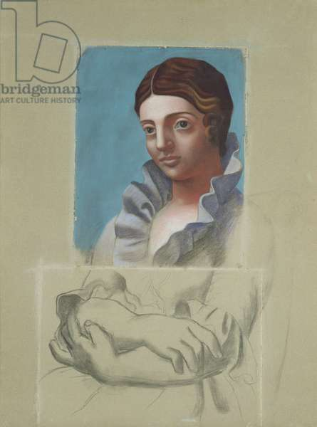 Portrait of Olga, 1921 (charcoal & pastel on paper)