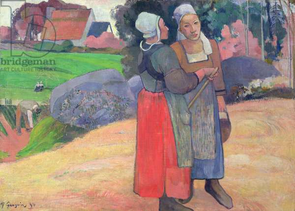 Breton Peasants, 1894 (oil on canvas)