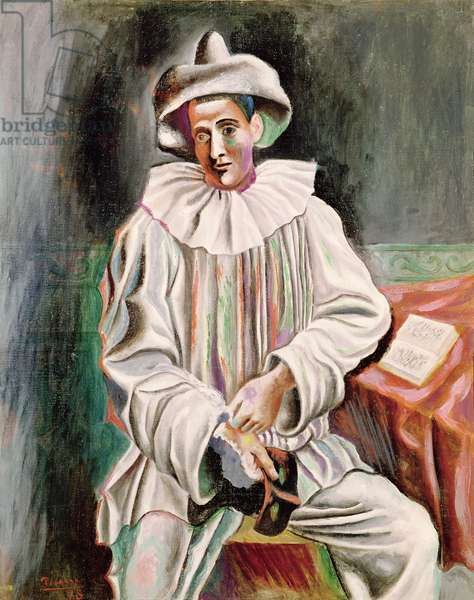 Seated Pierrot, 1918 (oil on canvas)
