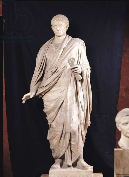 Statue of Caesar Augustus (63 BC-14 AD) from Velletri, 1st-2nd century AD (marble)