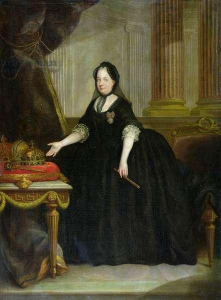 Maria Theresa (1717-80) Empress of Austria (oil on canvas)