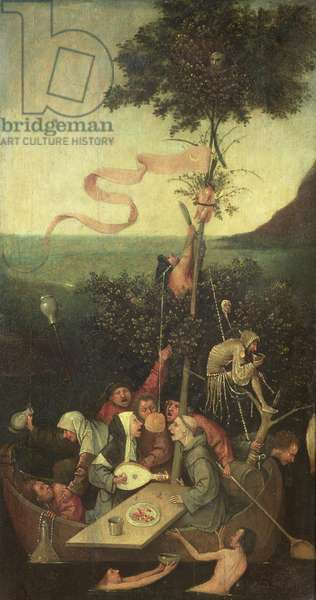 The Ship of Fools, c.1500 (oil on panel)