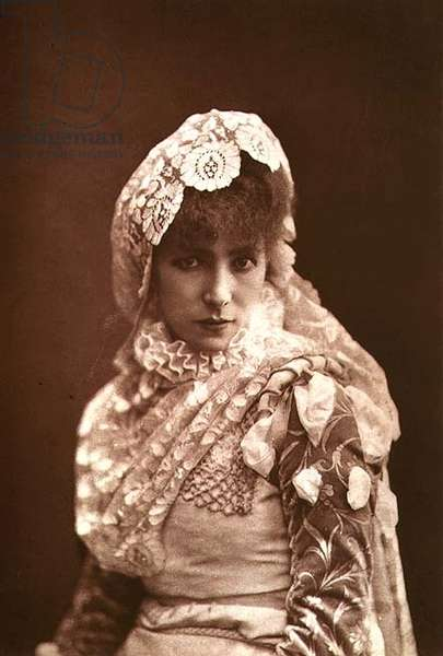 Sarah Bernhardt in the Role of Marion Delorme (1613-50) (photo)