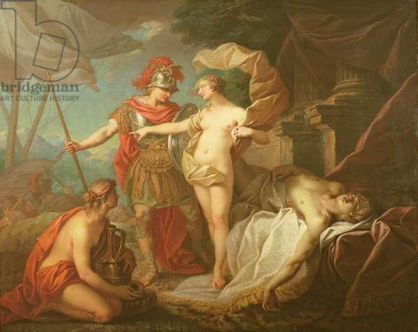 Achilles leaving to avenge the death of Patroclus (oil on canvas)