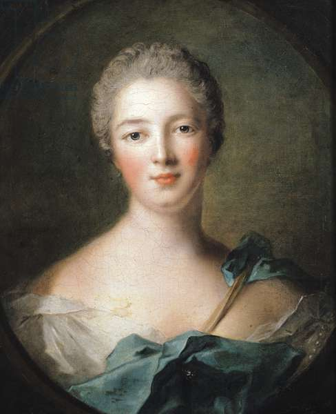 Madame de Pompadour (1721-64) 1748 (oil on canvas)