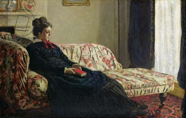Meditation, or Madame Monet on the Sofa, c.1871 (oil on canvas)