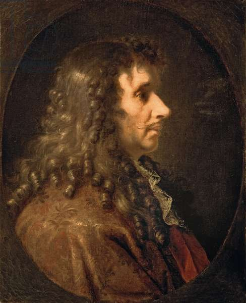 Portrait of Moliere (1622-73) 1660 (oil on canvas)