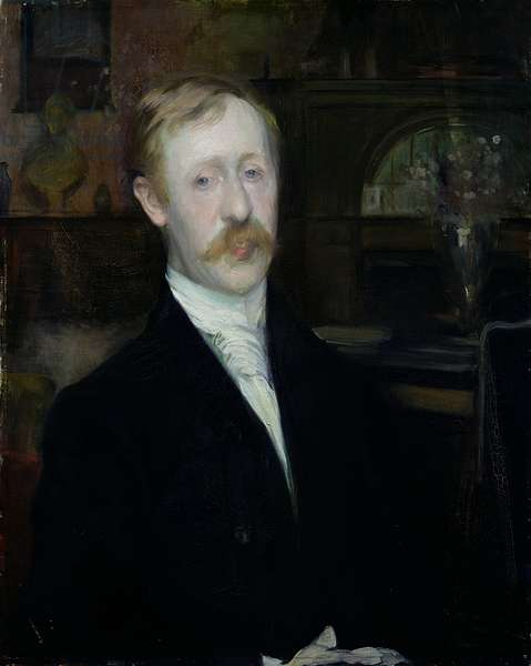 Portrait of George Moore (1852-1933) (oil on canvas)