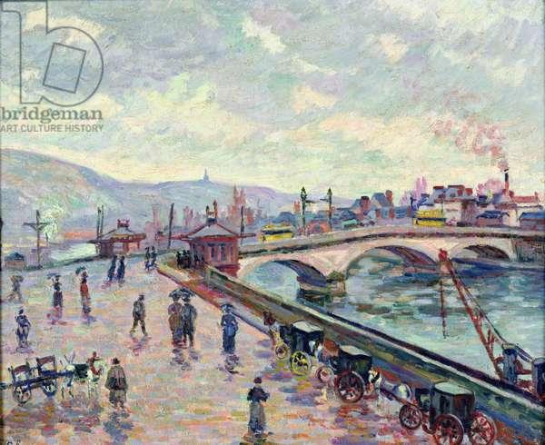 The Seine at Rouen (oil on canvas)