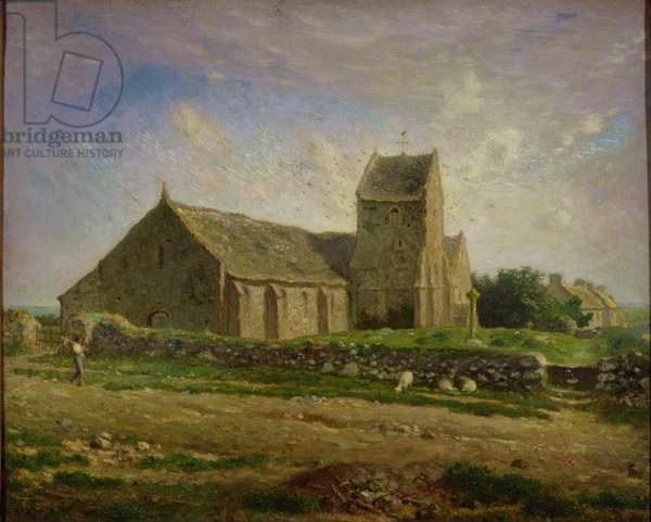 The Church at Greville, c.1871-74 (oil on canvas)