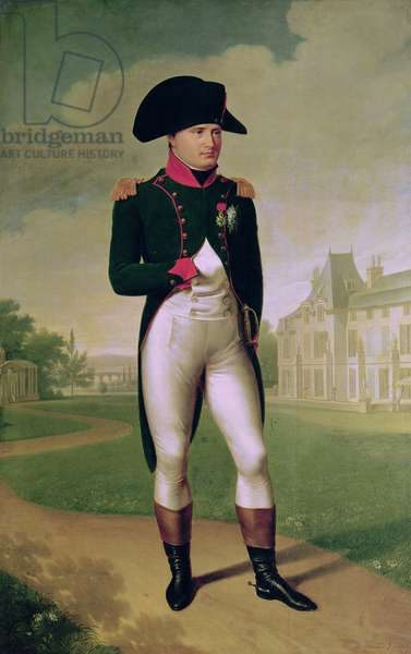 Napoleon I (1769-1821) in Front of the Chateau de Malmaison, 1804 (oil on canvas)