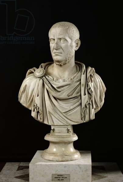 Bust of Marcus Claudius Tacitus (c.200-276) or Marcus Opelius Macrinus (164-218) (marble)