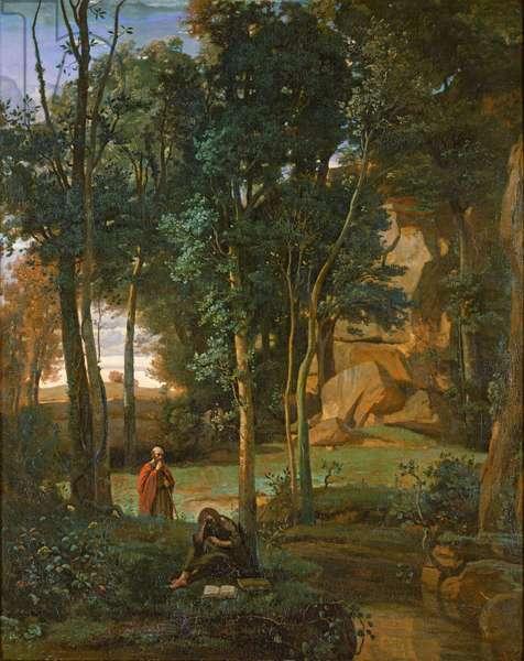 Democritus and the Abderites, 1841 (oil on canvas)