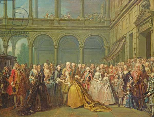 The Meeting at Neuhaus in Bohemia, 24th May 1737 (oil on canvas)