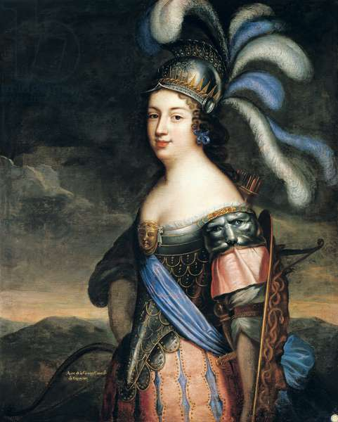 Anne de La Grange-Trianon (1632-1707) Countess of Palluau and Frontenac (oil on canvas)