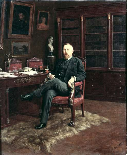 Portrait of Paul Marmottan (1856-1932) in his Study, 1899 (oil on canvas)