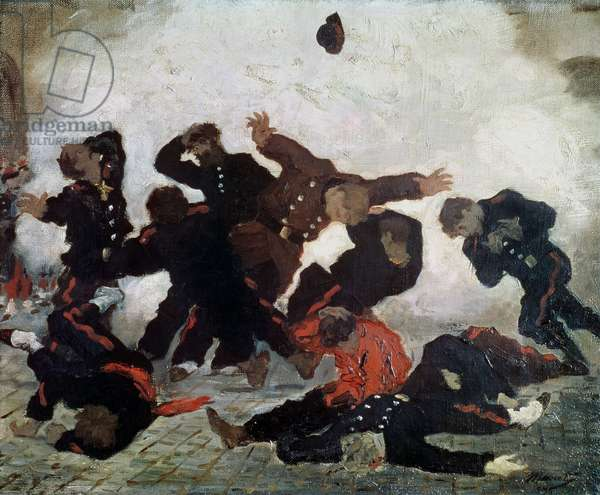 The Execution, after 1871 (oil on canvas)